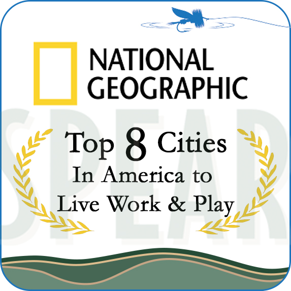 National Geographic Award as a Top 8 City in America